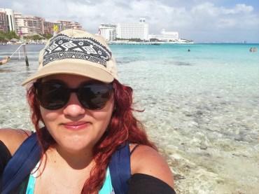 Foto viajando por Cancún con poco presupuesto.