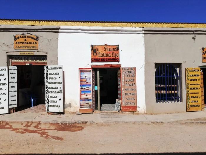 Casas de cambio de San Pedro de Atacama.