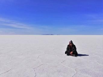 Foto en el Salar de Uyuni.