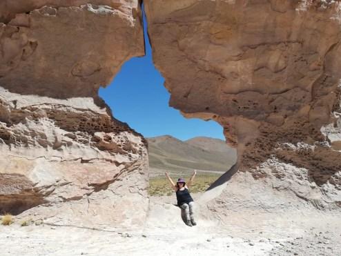 Foto en Ciudad Perdida, uno de los atractivos del día 2 del tour por Uyuni.