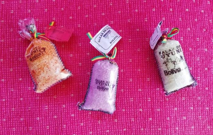 Bolsitas de sal de Uyuni.