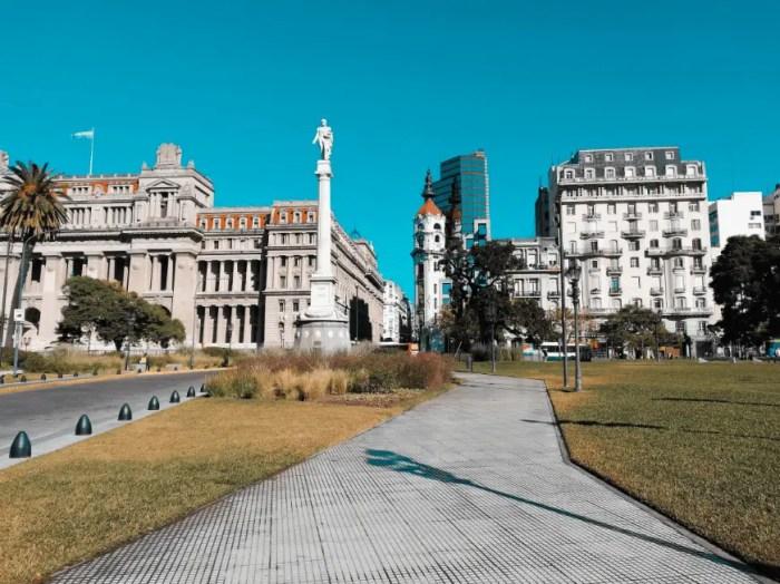 Plaza Lavalle de Buenos Aires.