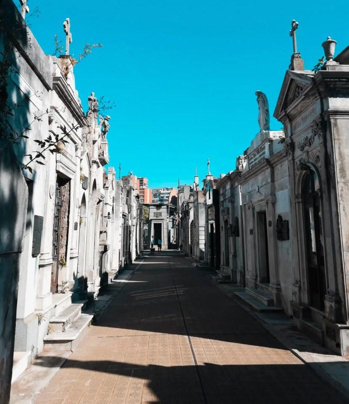 Mausoleos del Cementerio de la Recoleta.
