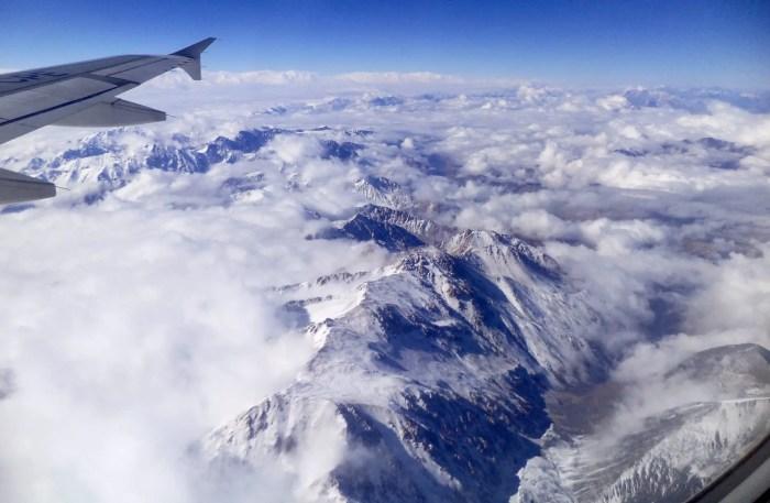 Cordillera de los Andes desde el avión.