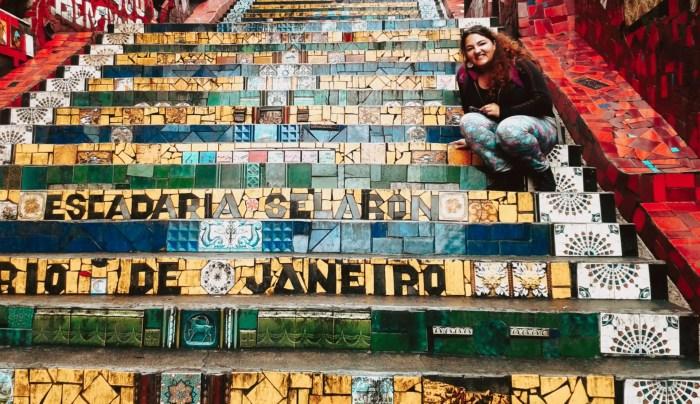 Foto en la Escalera de Selarón.
