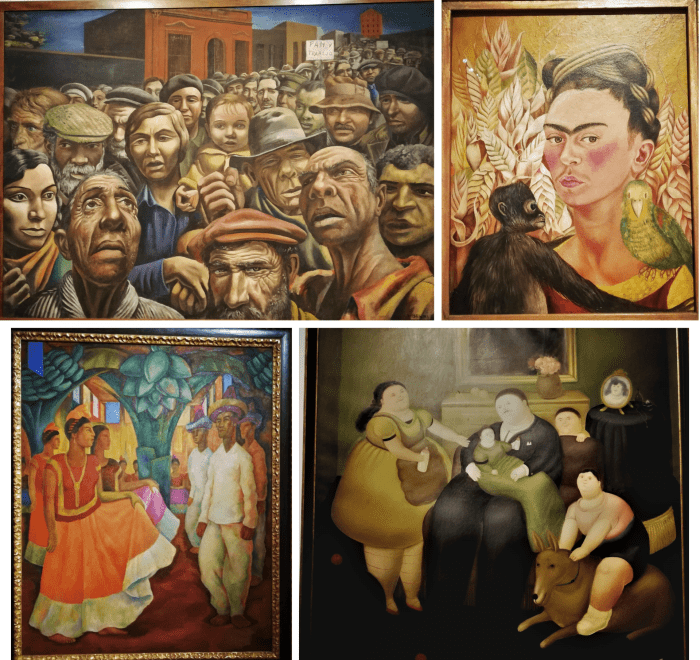 Pinturas del Museo MALBA de Buenos Aires.