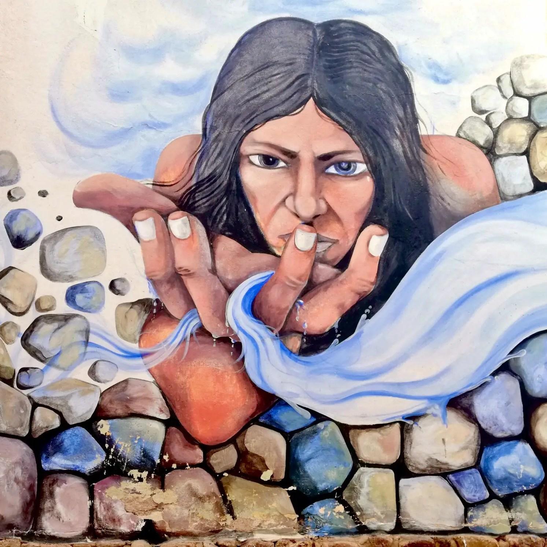 Arte urbano de Humahuaca.
