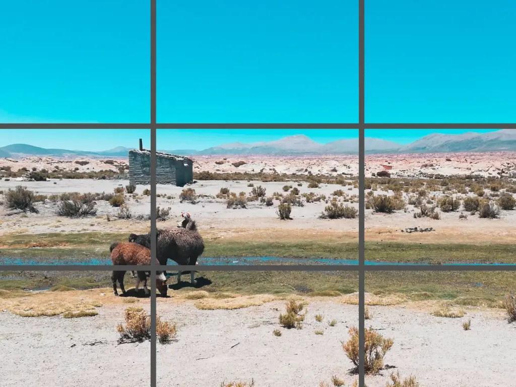 Regla de los tres tercios en foto de Uyuni