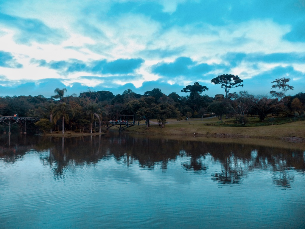 Lago del Jardín Botánico de Curitiba.