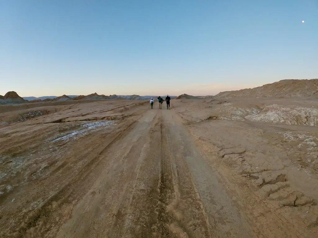 Trekking nocturno en el Desierto de Atacama.