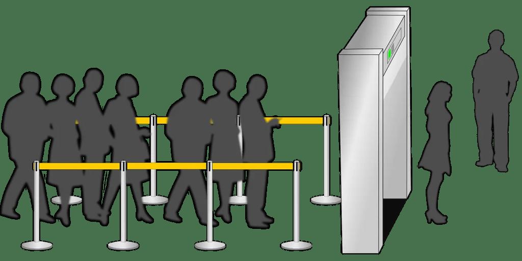 Seguridad en el aeropuerto.