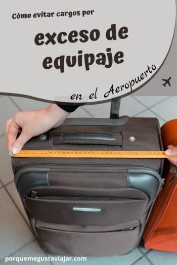 Pin como evitar cargos por exceso de equipaje.