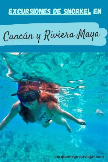 Pin excursiones de snorkel en Cancún y Riviera Maya.