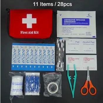Kit de primeros auxilios de viaje.