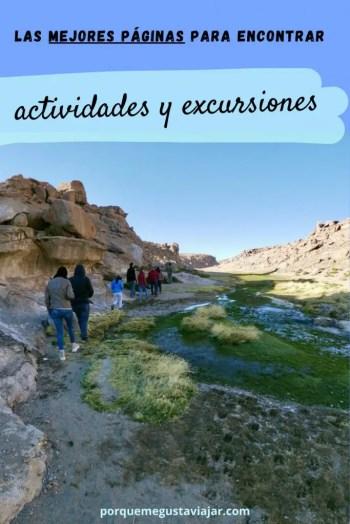 Pin páginas para encontrar excursiones.