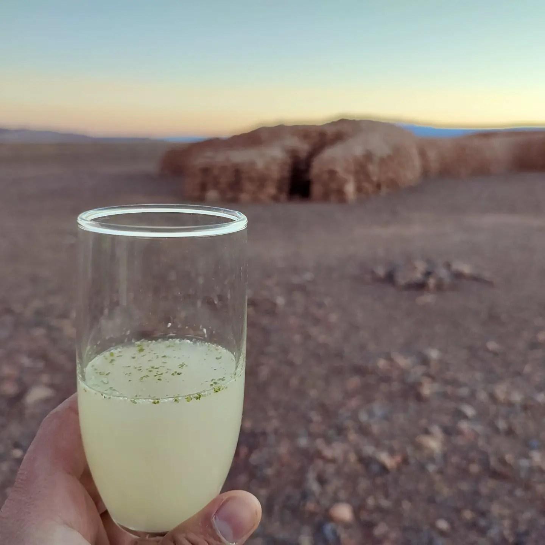 Pisco Sour en San Pedro de Atacama.