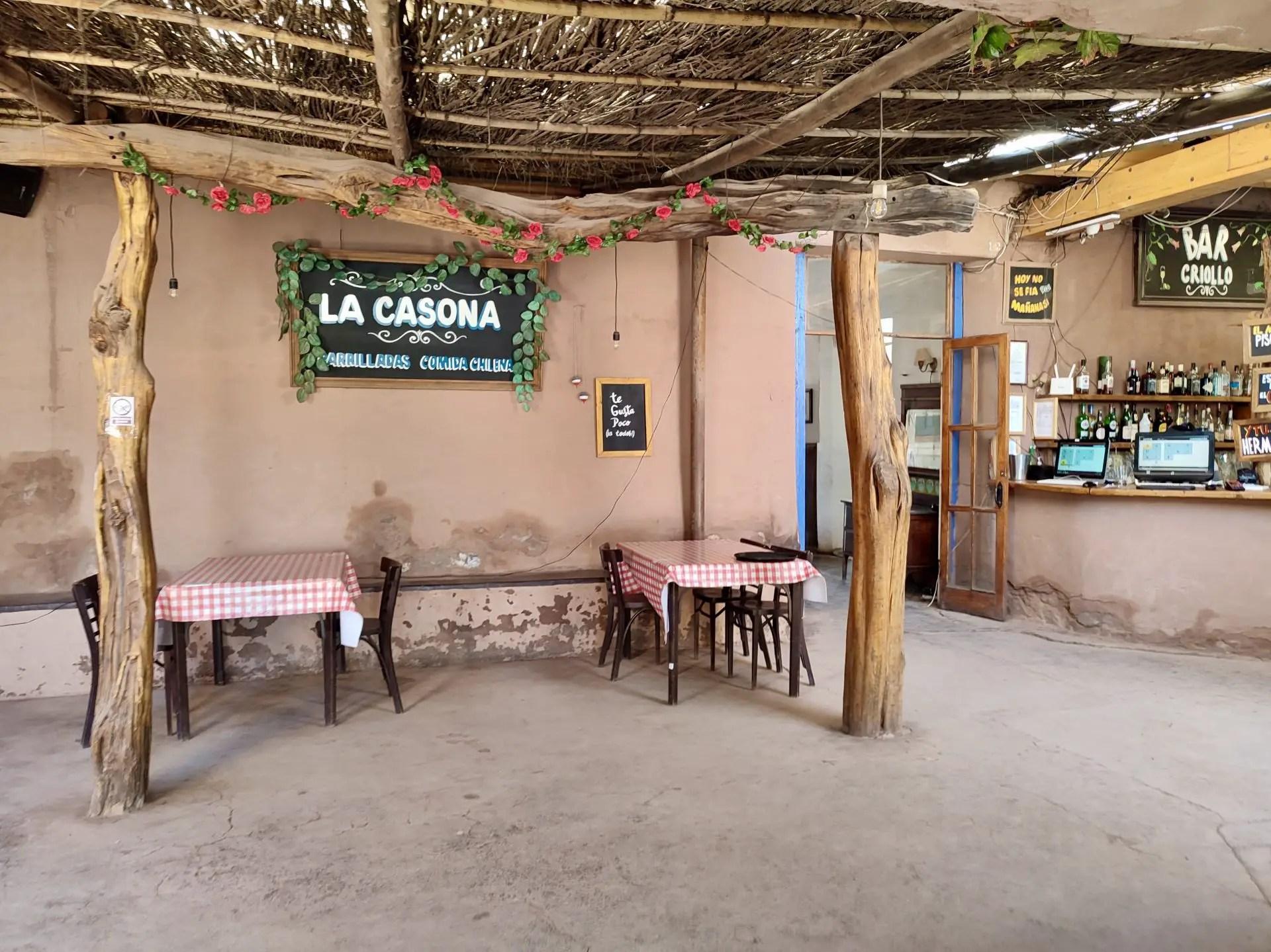 Restaurante La Casona, San Pedro de Atacama.