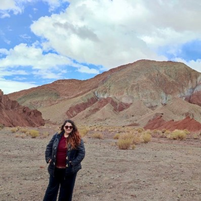 Foto en excursión norte de chile.