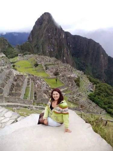 Foto con Machu Picchu y el Huayna Picchu de fondo.