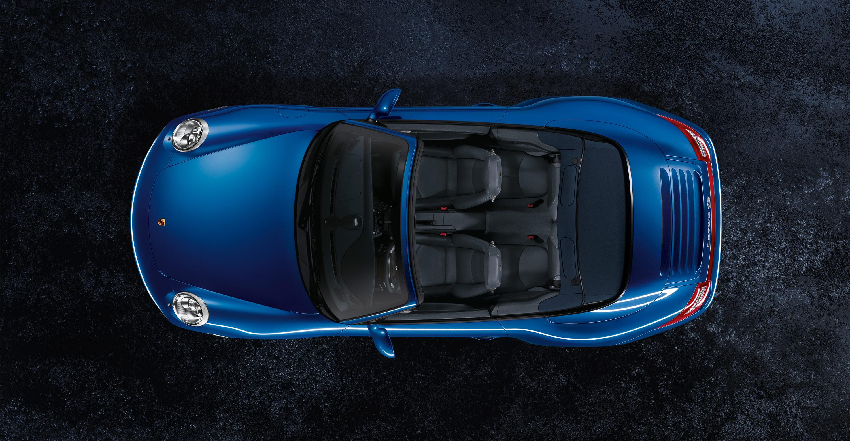 2011 Blue Porsche 911 Carrera 4S Cabriolet Wallpapers