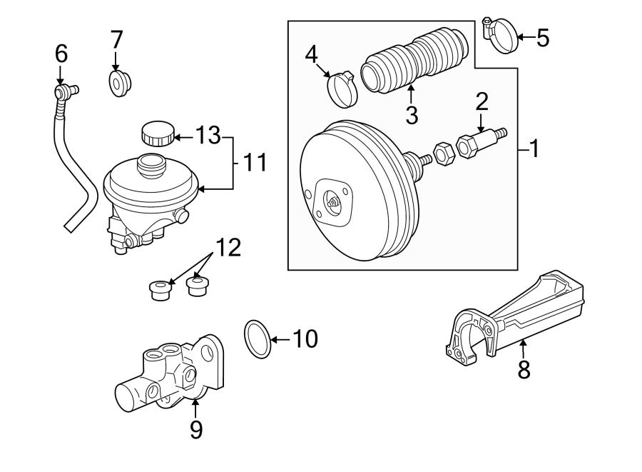 Porsche Boxster Brake Master Cylinder Reservoir