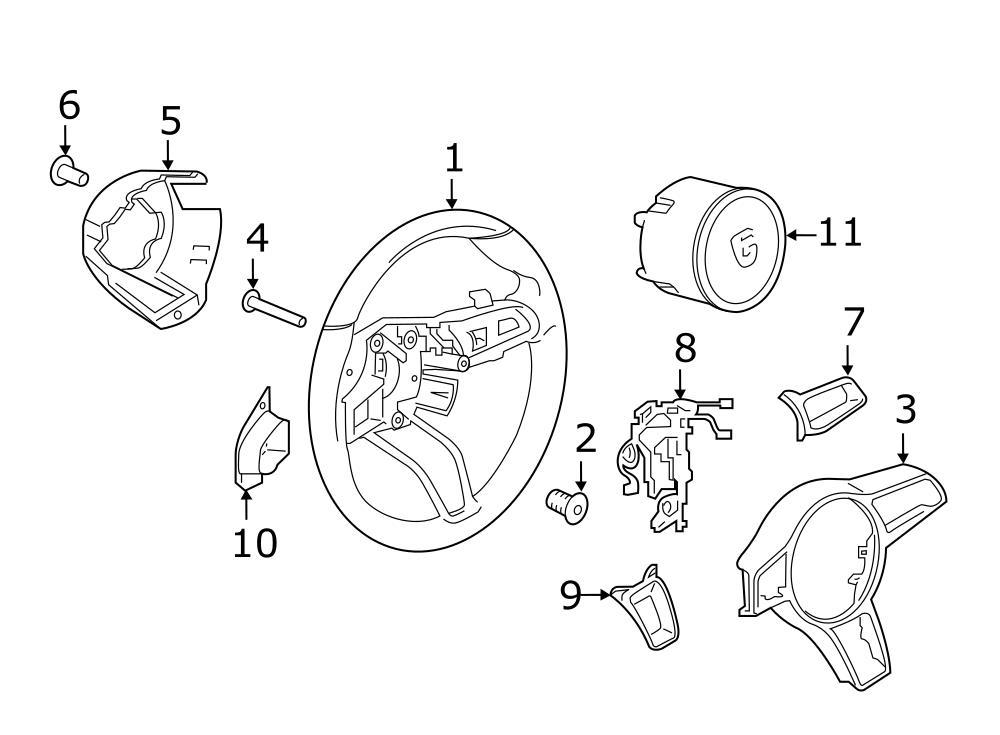 Porsche Cayman Steering Wheel Wiring Harness. 2015-18. WGT