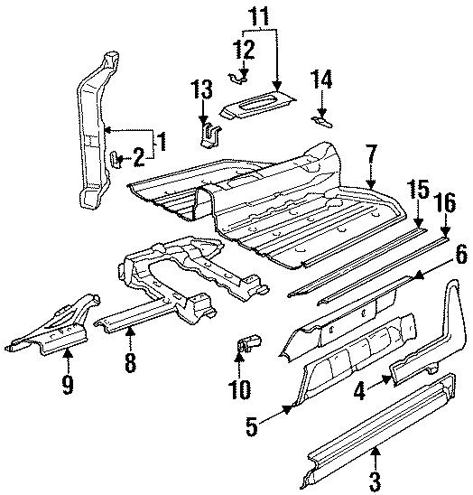 Porsche 911 Frame gusset plate. Outer rocker gusset. W