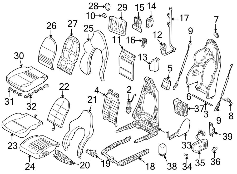 2003 Porsche Boxster Seat Heater Control Module