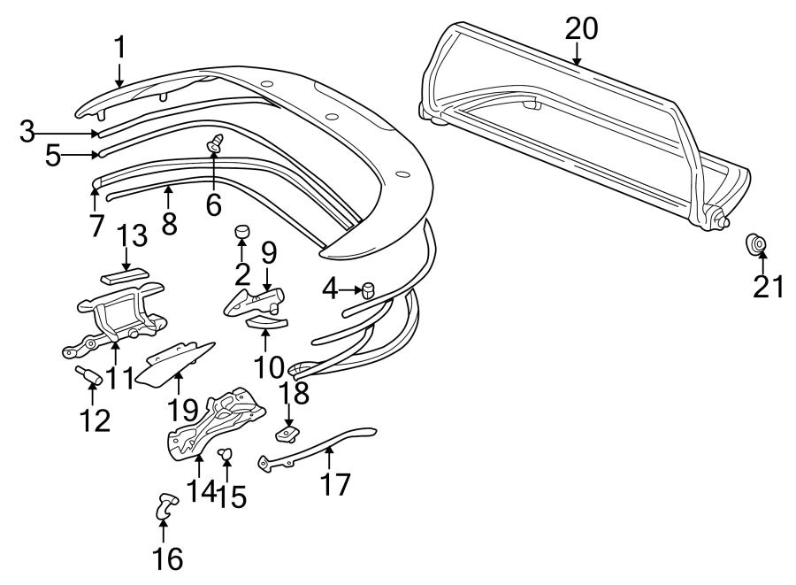 Porsche Boxster Screw. Guide. Window. Regulator. 3.5 X 9.5