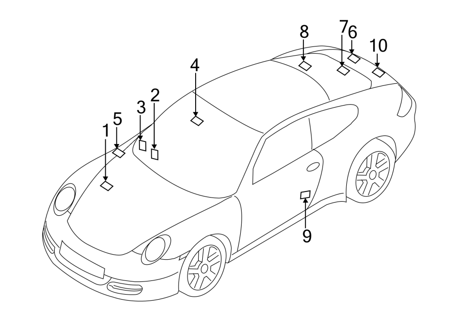 Porsche 911 Engine Decal. Engine specification, 3.6L