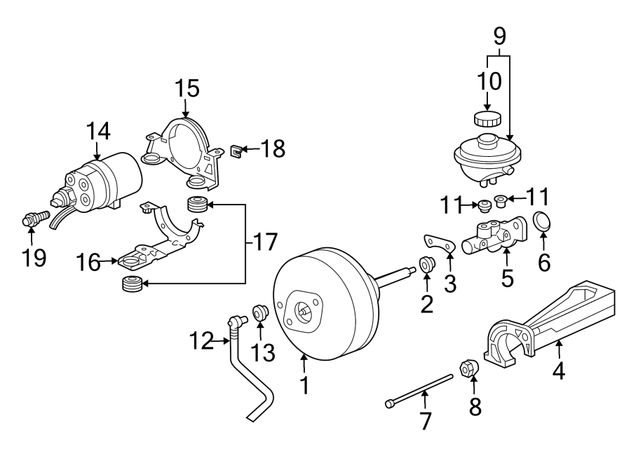 Porsche 911 Brake Vacuum Hose. 2WD, w/o stability cntrl