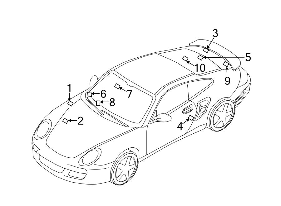 Porsche Panamera Caution Label. Engine Decal. Info label