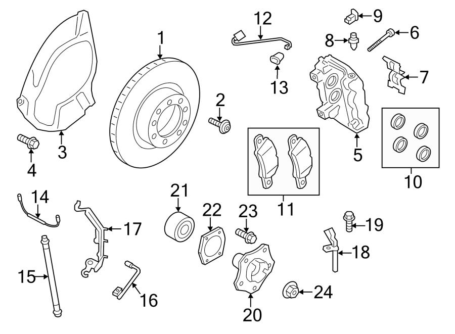 Porsche 911 Brake pad repair set. SET OF BRAKE PADS