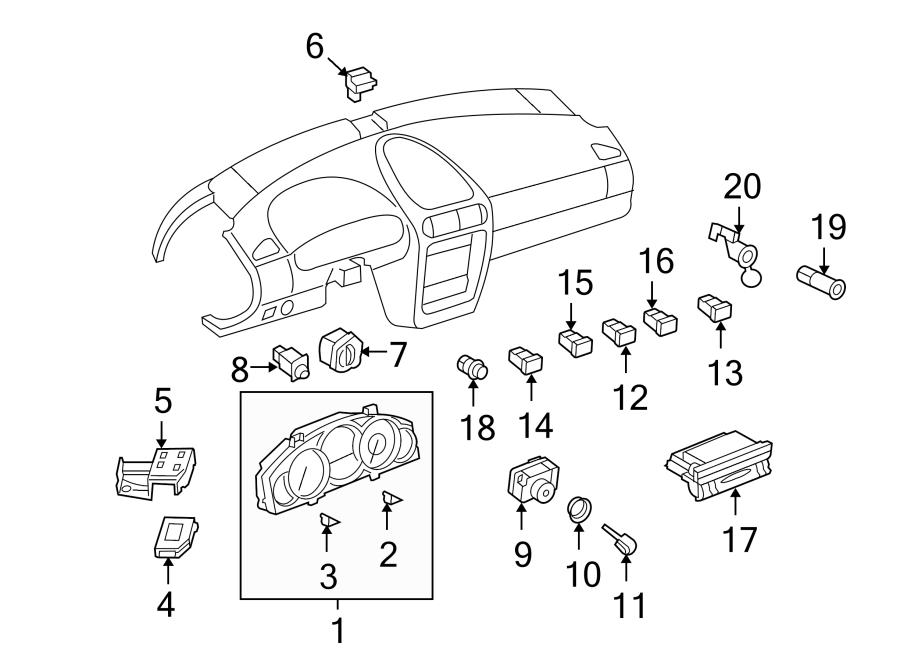 Porsche Cayenne Instrument Panel Cover. Blank
