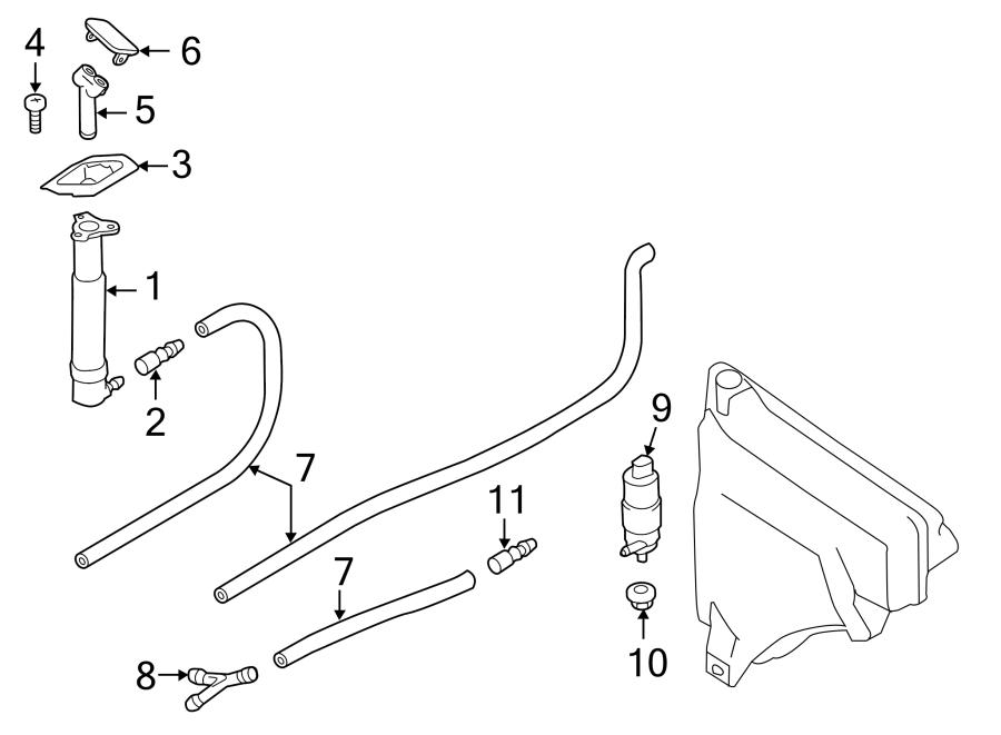 Porsche Cayenne Headlight Washer Nozzle. 2011-14. Cayenne
