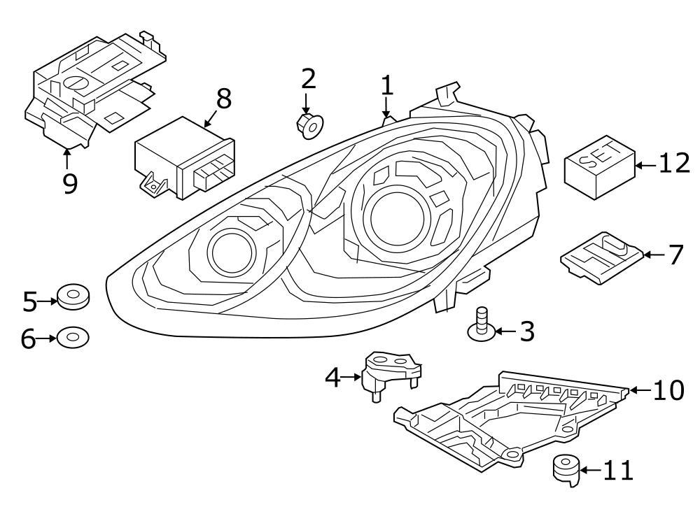 1982 Porsche Headlight Retaining Ring (Lower). 2015-18, BI