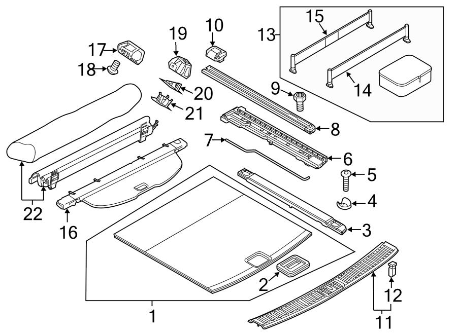 Porsche Cayenne Luggage compartment. Partition, net