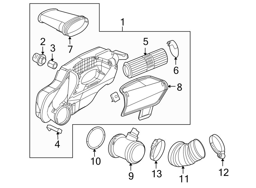 2005 Porsche Boxster Engine Air Intake Hose. 2006-08