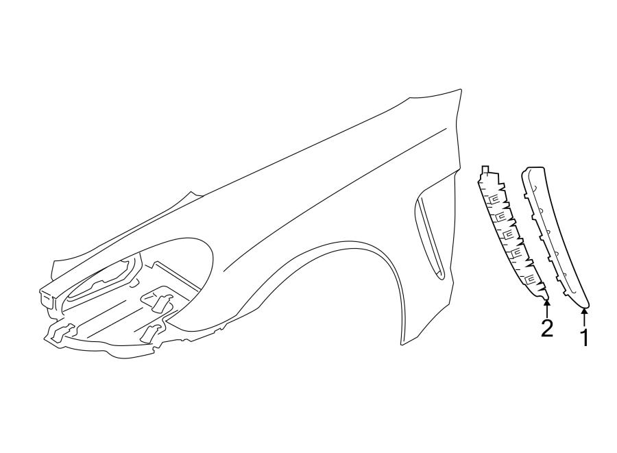 Porsche Panamera Fender Molding. Black. Black, w/o GTS