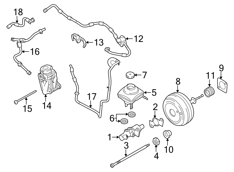 Porsche Panamera With vacuum line check valve. DASH