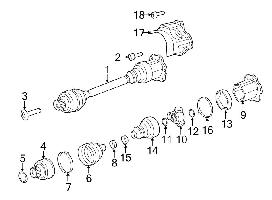 Porsche Macan Outer constant-velocity joint. CONSTANT
