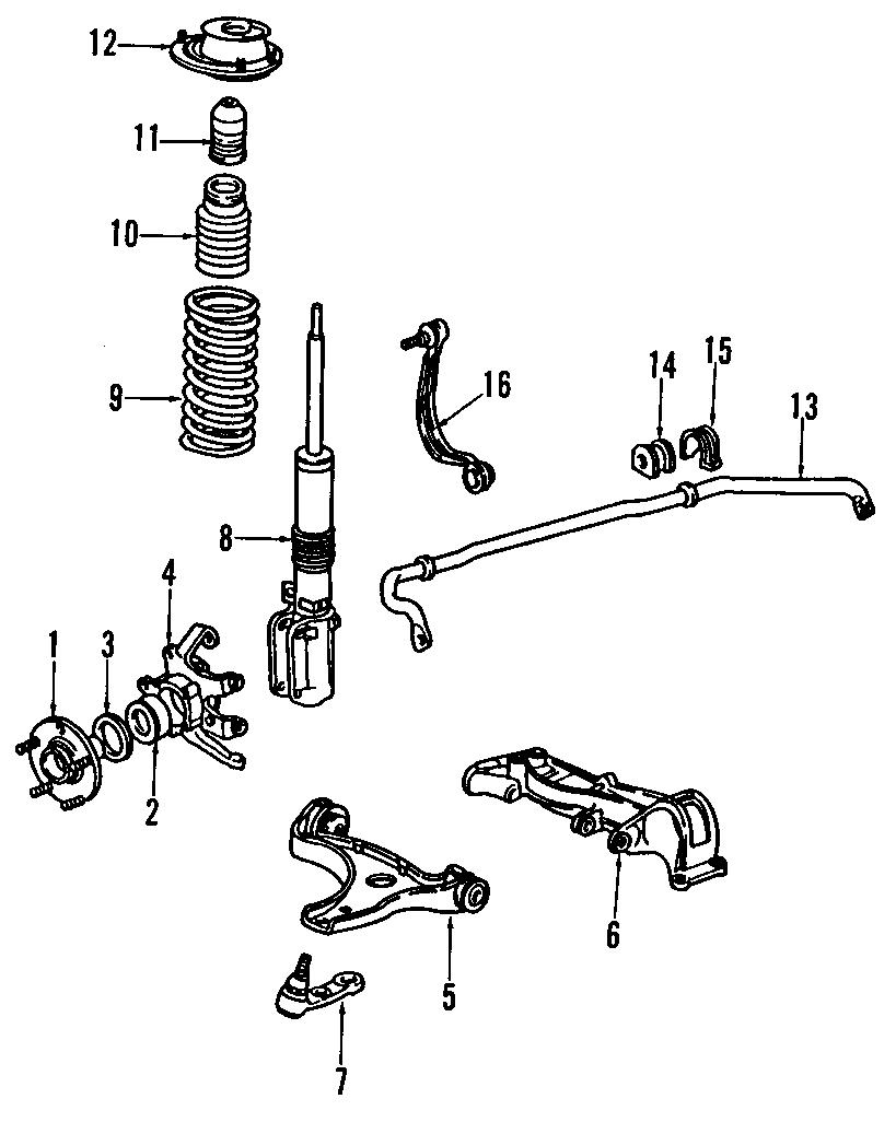 Porsche 911 Control arm bracket. Mount bracket. Side