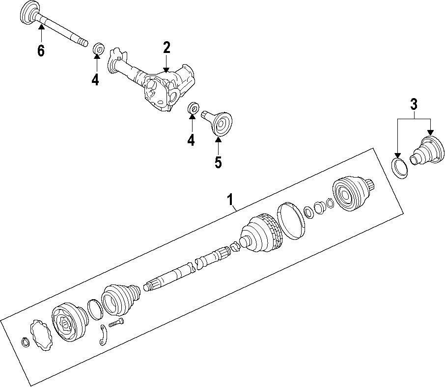Porsche Cayenne Cardan shaft front-a. Propeller