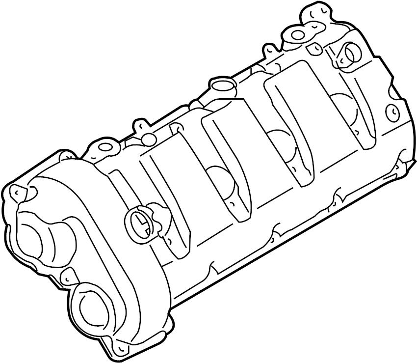 Porsche Cayenne Engine Valve Cover. RightWTURBOCHARGER