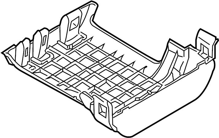 2011 Porsche 911 Fuse Box Cover. FRONT COMPARTMENT
