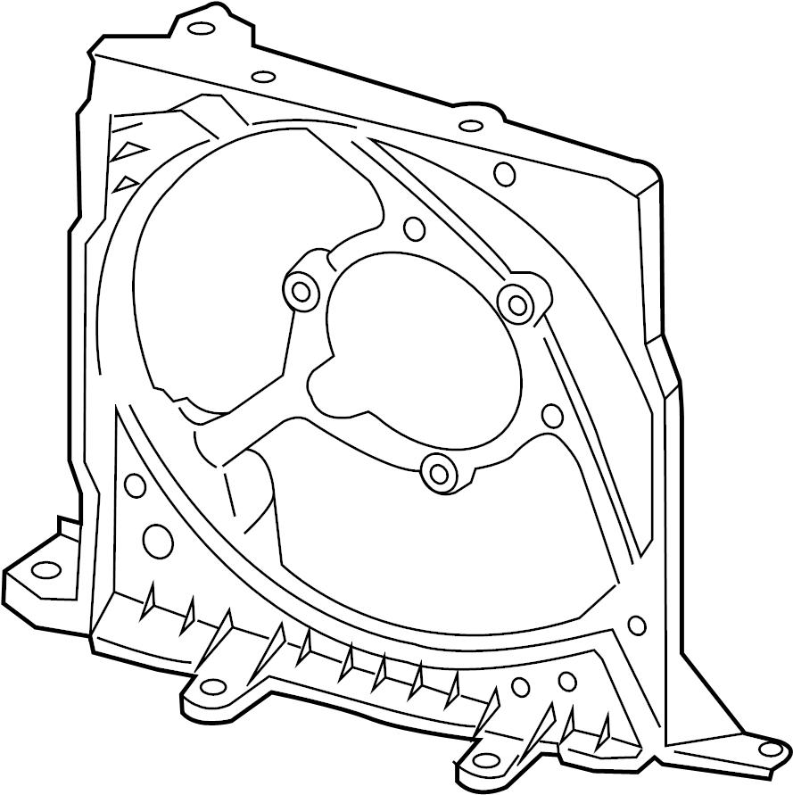 Porsche Cayman Engine Cooling Fan Shroud. Broken