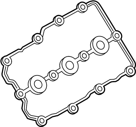 Porsche Cayenne Engine Valve Cover Gasket. Cayenne Hybrid