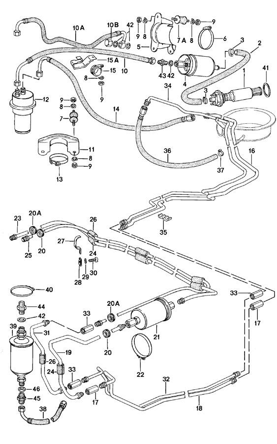 1980 Porsche 924 in-tank fuel pump. FUEL PUMP-IN TANK. IN