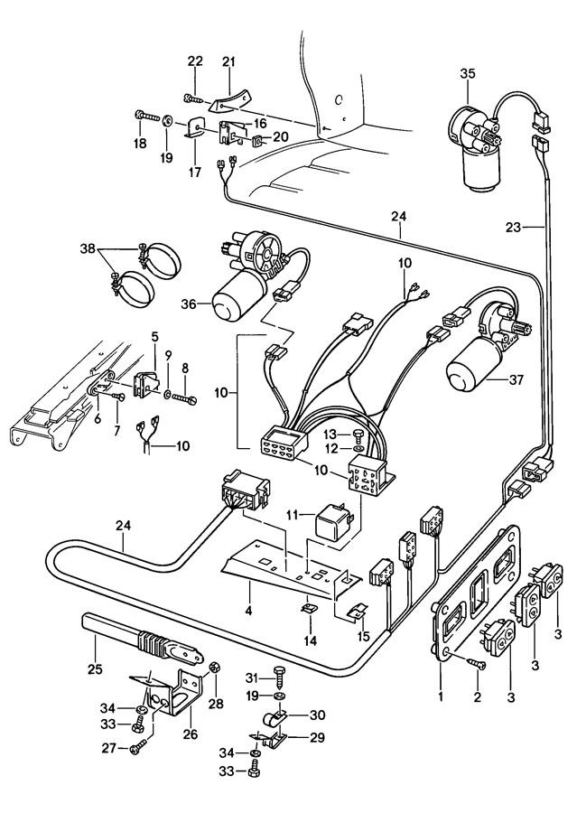 1978 Porsche 928 Tapping screw Black. Flatnose, Soft
