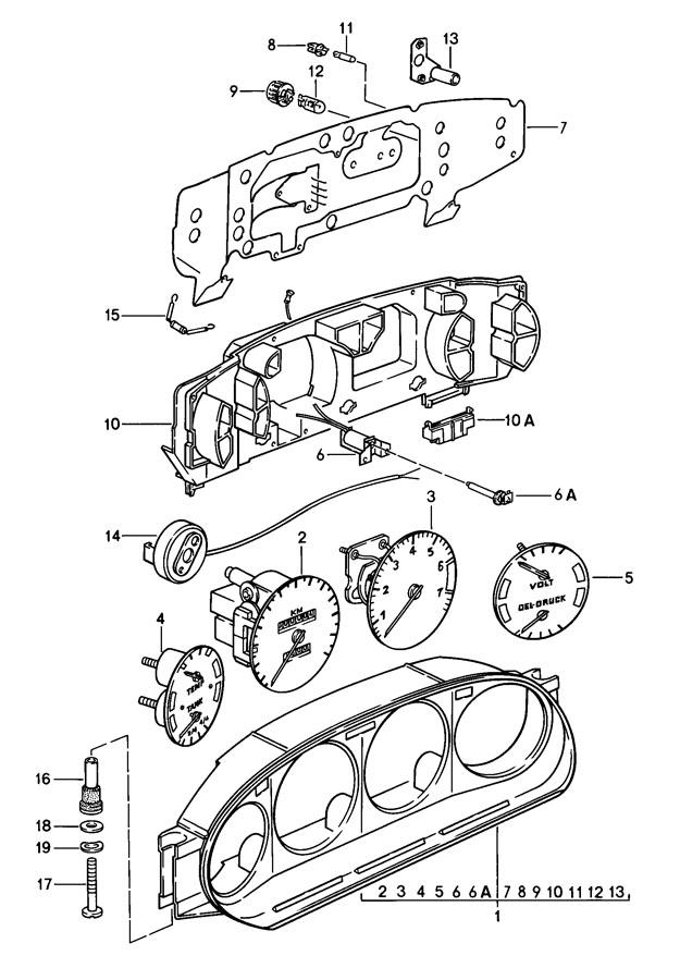 Porsche 928 printed circuit film. PRINTED CIRCUIT FOIL